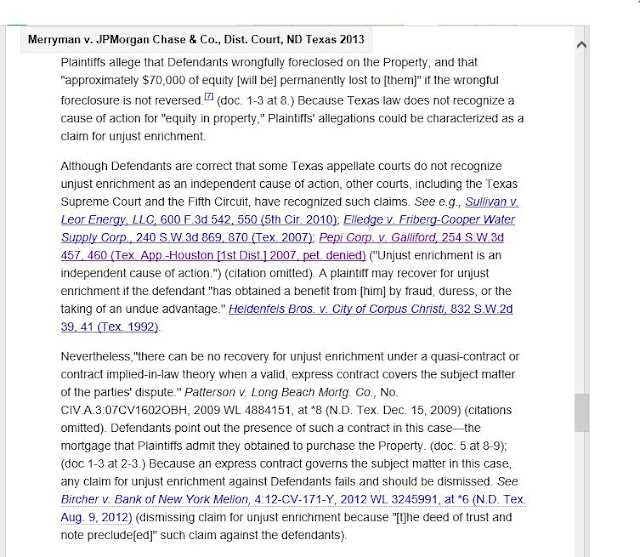 Merryman v. JPMorgan Chase & Co., U.S. Dist. Court, ND Tex. (Jan 16, 2013)