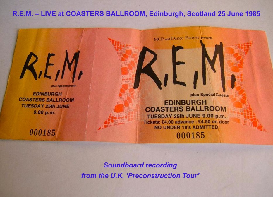 The dB's Repercussion: R  E  M  - Edinburgh, Scotland 1985