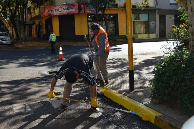 SEM Posadas:  Continua la demarcación de los cordones  en la calles céntricas de Posadas