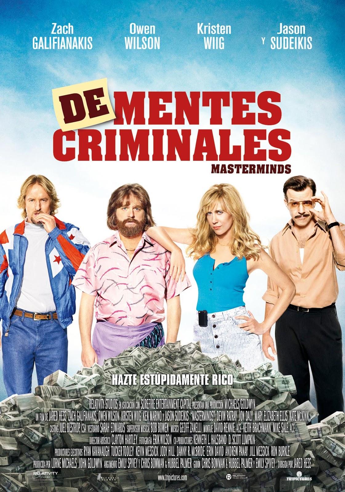 ver De-mentes criminales (Masterminds) 2017