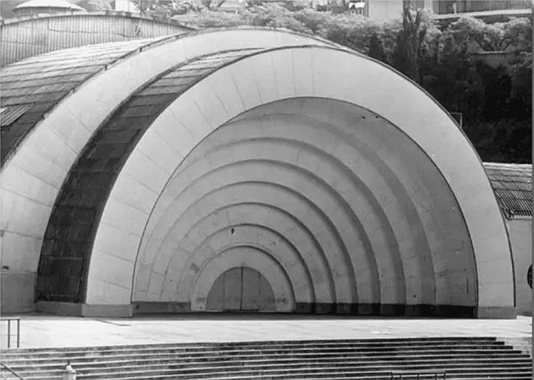 Concha acústica do Pacaembú, década de 60