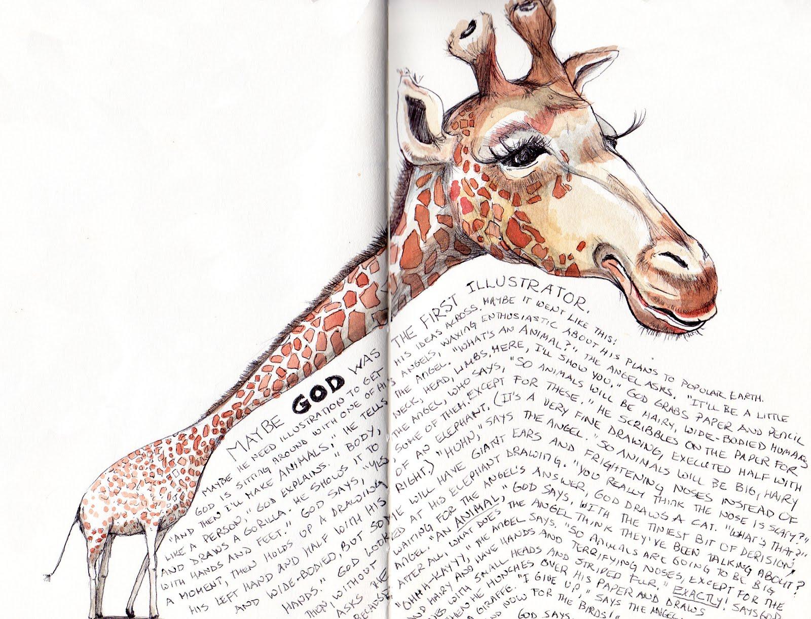 Giraffe Face Pencil Drawing - photo#26