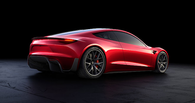 Tesla 2020 Roadster rear view