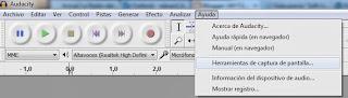 Imagen Audacity, Imagen Editor de audio, Foto Software libre, Foto aplicación multiplataforma, Imagen grabar audio, Imagen mezclar pistas, Foto efectos de audio, Imagen Herramientas de captura de pantalla