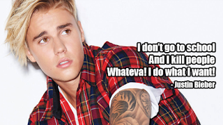 fake celebrity quotes: justin bieber
