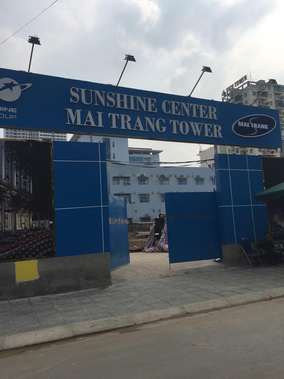 cập nhật các tiến độ thi công dự án chung cư Sunshine Center trực tiếp tại công trường