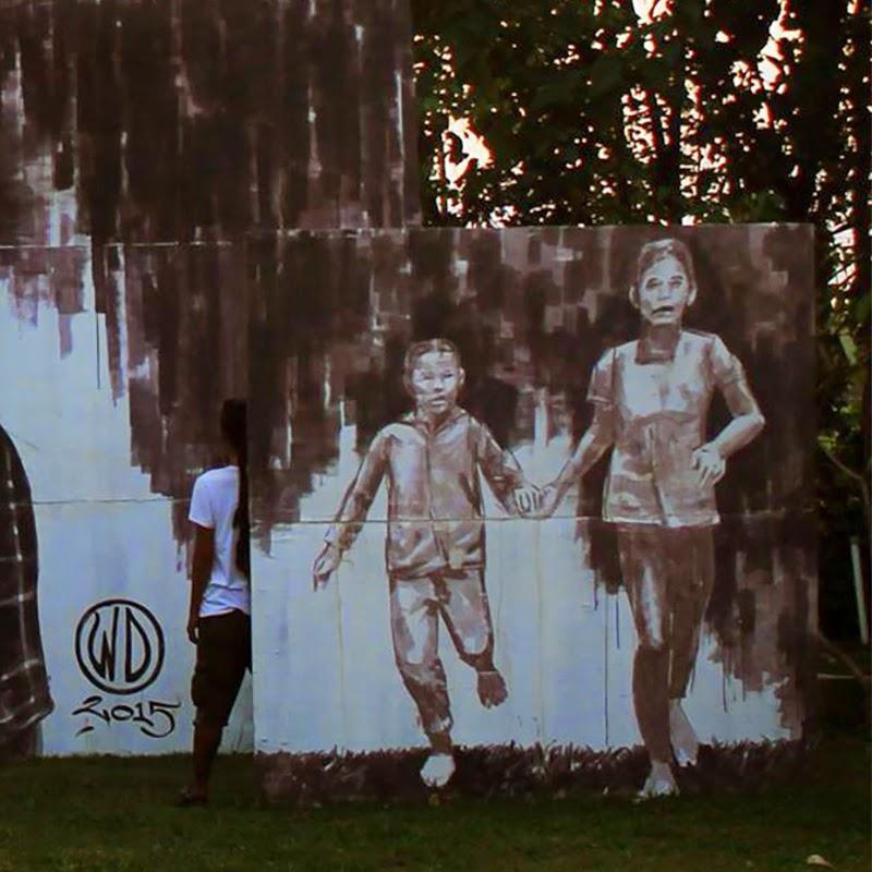"WD paints ""Money Kills"", a new mural in Bali, Indonesia – StreetArtNews"