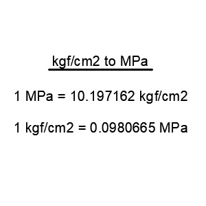 kgf/cm2 to MPa