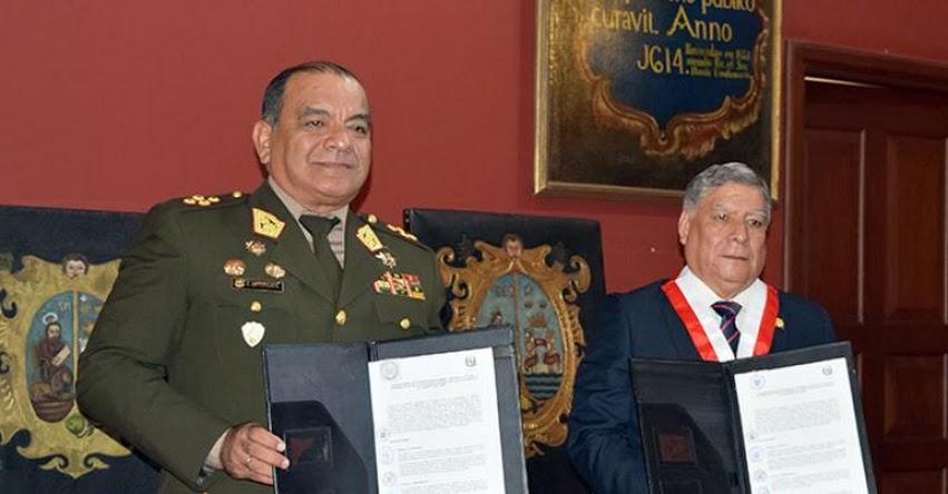 Suscriben convenio académico de cooperación entre Ejército y Universidad de San Marcos - www.ejercitodelperu.mil.pe