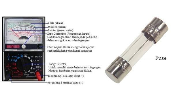 Gambar avometer dan fuse / sekring