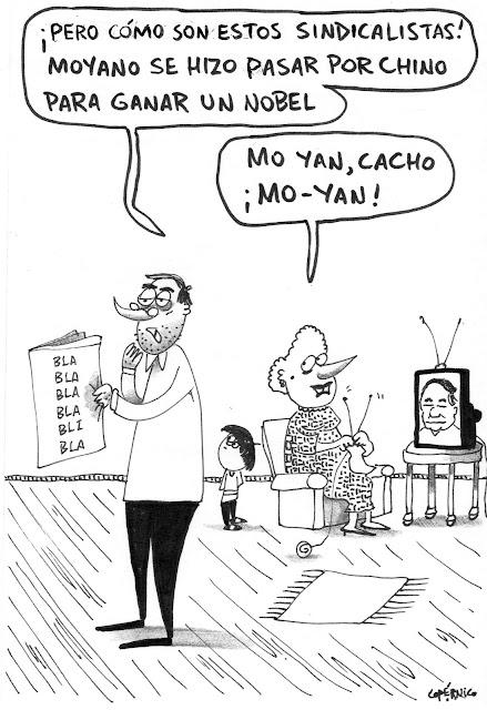 Meme de humor sobre Mo Yan