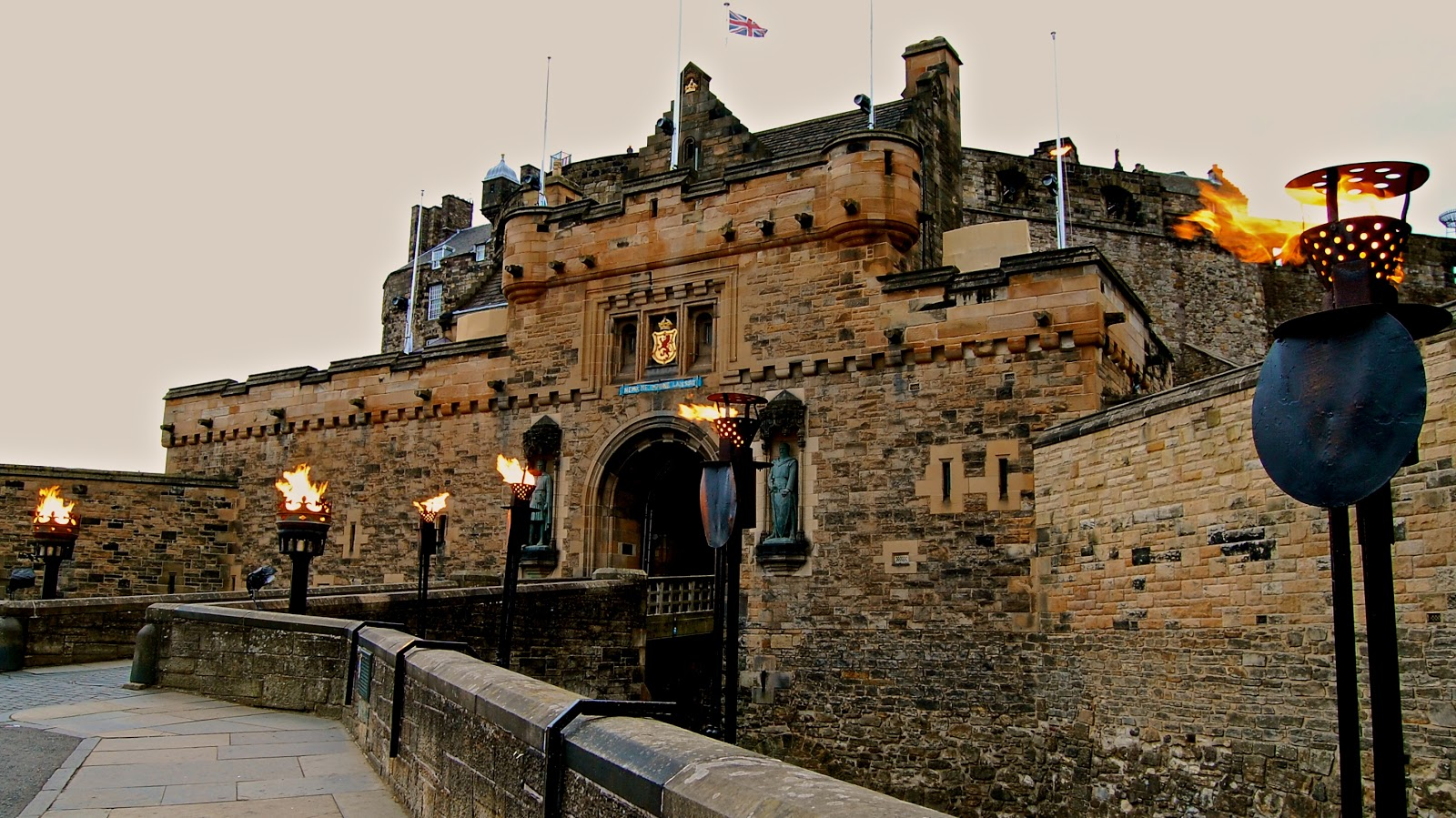 Entry gate to Edinburgh Castle, Scotland