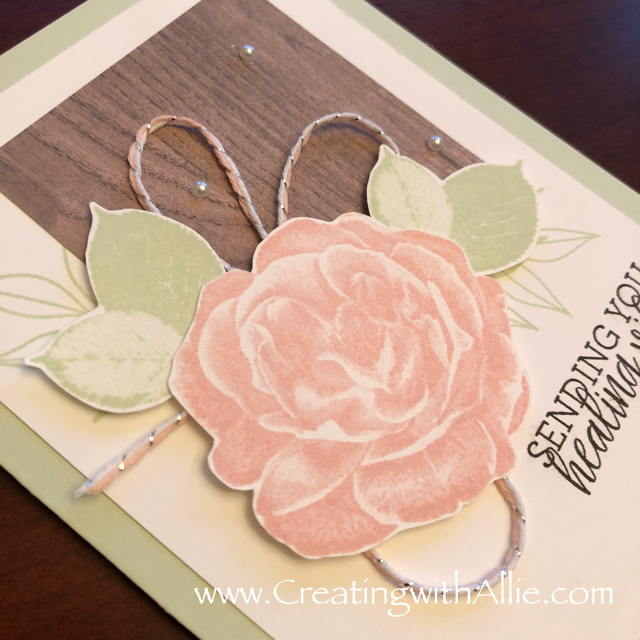 Check out the video tutorial showing you how to make a quick and easy card, where I show you tips and tricks for using Stampin Up's healing hugs stamp setl!  You'll love how quick and easy this is to make!  www.creatingwithallie.com #stampinup #alejandragomez #creatingwithallie #videotutorial #cardmaking #papercrafts #handmadegreetingcards #fun #creativity #makeacard #sendacard #stampingisfun #sharewhatyoulove #handmadecards #friendshipcards