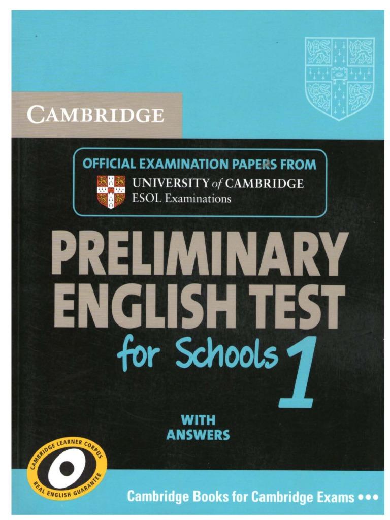 Cambridge Preliminary English Test 1,2,3,4,5,6,7,8 (ebook