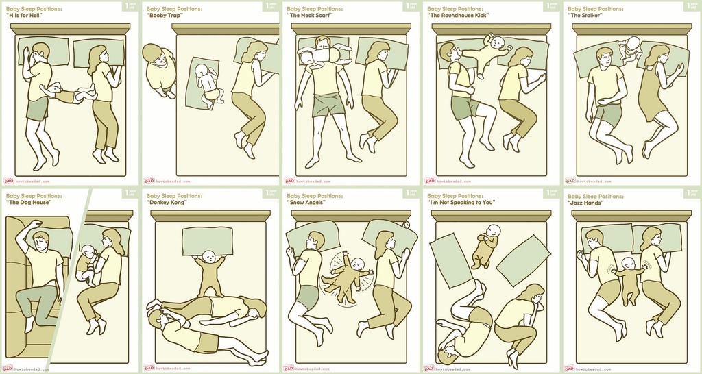 mi amor : baby sleep positions