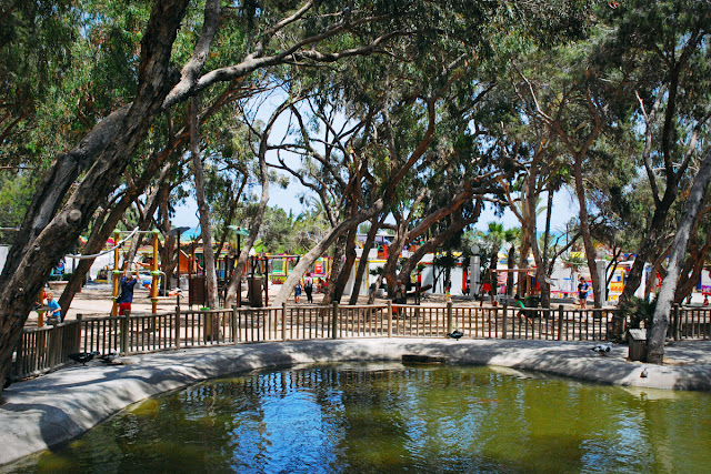 Pond and playground -  Parque Reina Sofia - Guardamar del Segura, Costa Blanca
