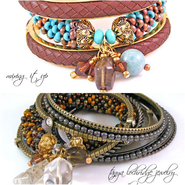 Tanya Lochridge Lochridge Jewelry Russian Amazonite, Smoky Quartz Gemstone Bangle