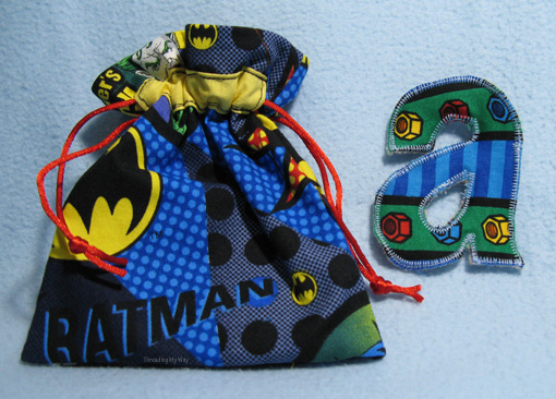 Batman Treasure Bag ~ Threading My Way
