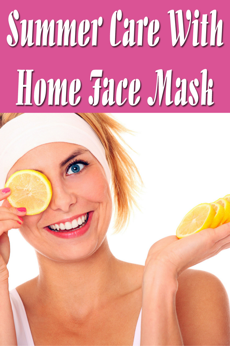 Summer Care With Home Face Mask