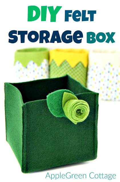 A super easy and ultra quick project for any sewing beginner. The only thing you need is a square of felt and 10 minutes of your time (or less).  sc 1 st  AppleGreen Cottage & Easy-Sew: Quick DIY Felt Storage Box - AppleGreen Cottage Aboutintivar.Com