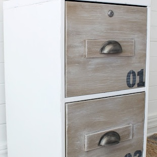 Dated File Cabinet Industrial Makeover