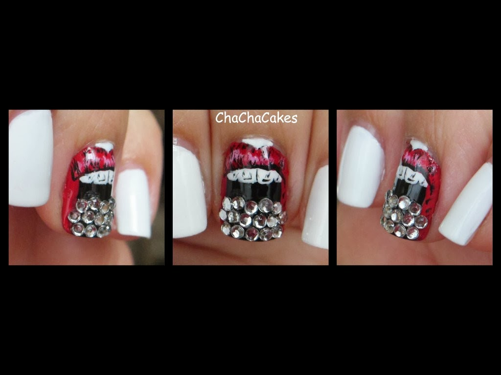 cha cha cakes nails day 25 in the 31 day nail art challenge