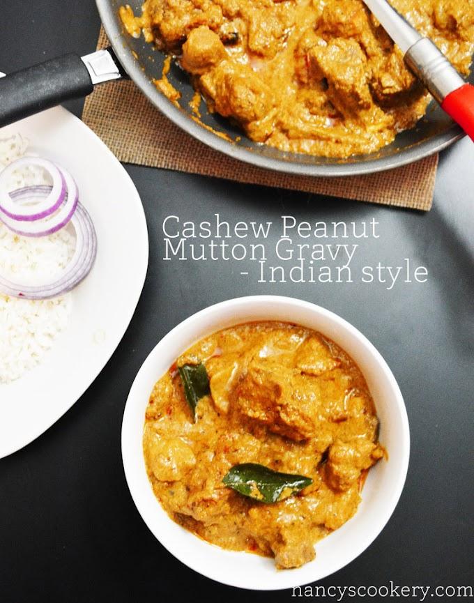 Mutton Gravy with Cashew and Peanut / Mutton gravy Indian