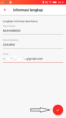 cara daftar di aplikasi dent android