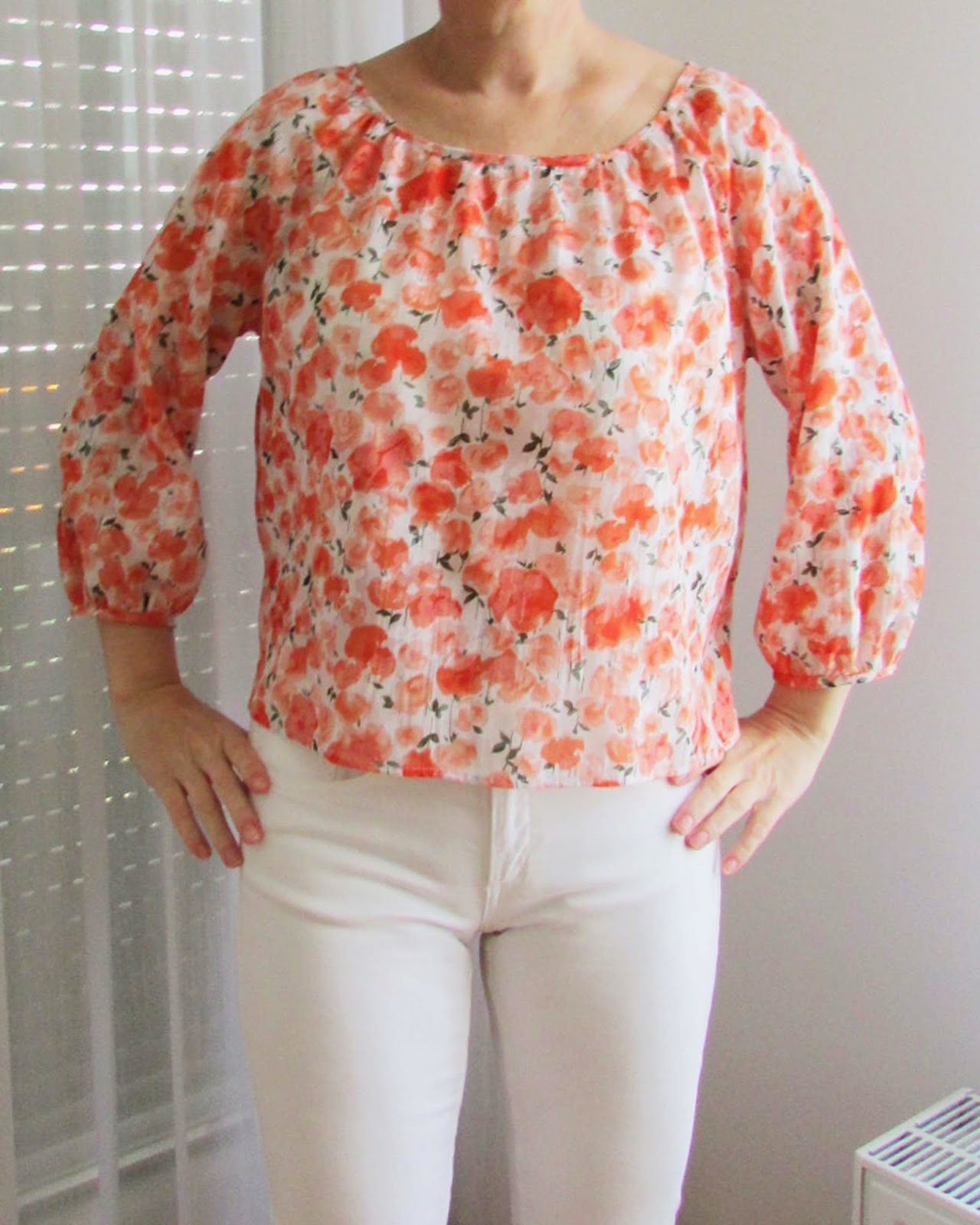 http://ladylinaland.blogspot.com/2014/06/orange-romantic-blouse.html