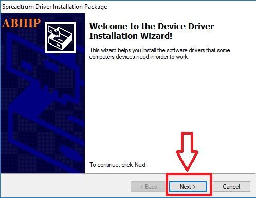 Tahapan menginstal SPD Driver pada windows 10.