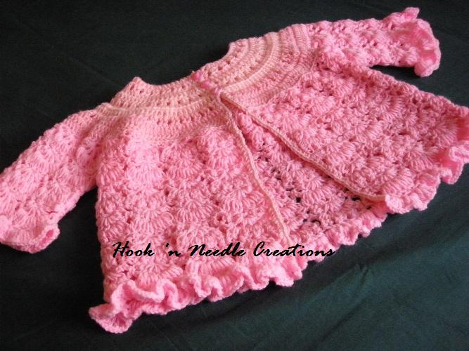 2d595532f Hook  n Needle Creations  Crocheted Baby Cardigan