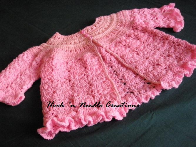 b621d16a4 Crochet Baby Cardigan Pattern « Design Patterns