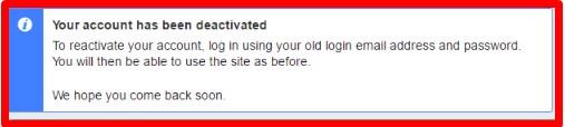 deactivate facebook account temporarily