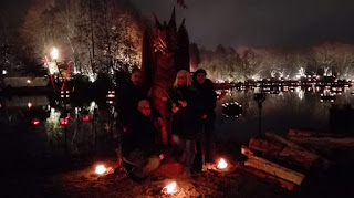 Mittelalterlicher Lichter Weihnachtsmarkt in Dortmund Fredenbaum