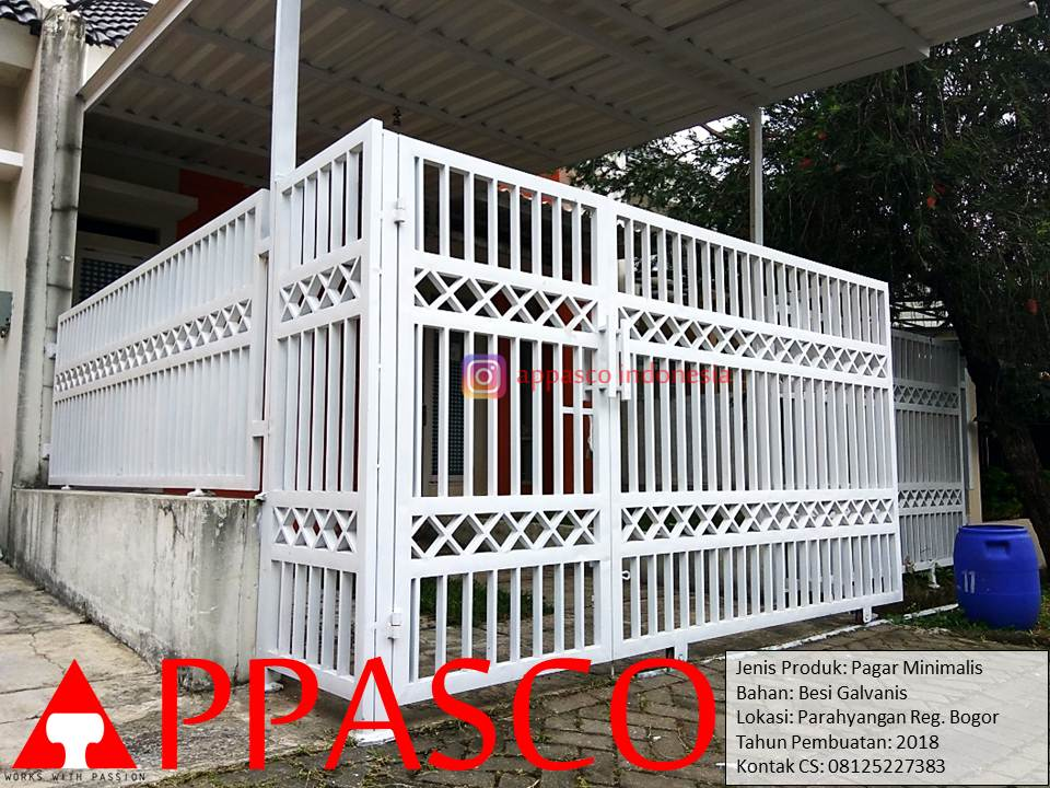Pagar Minimalis Modern Simple Rumah Minimalis di Parahyangan Bogor