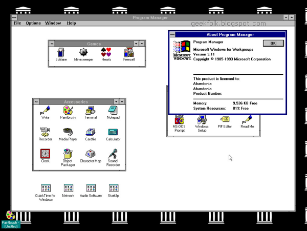 Run Windows 3.1 in your browser for free