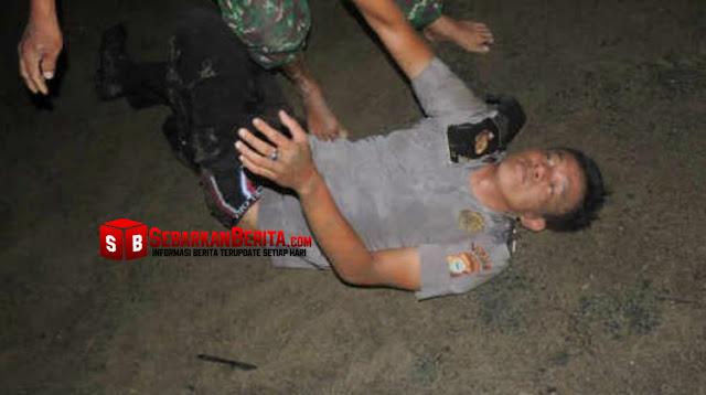 Oknum Polisi Yang Selingkuh dengan Istri TNI, Bonyok Sebelum Tiba di Kantor Polisi.