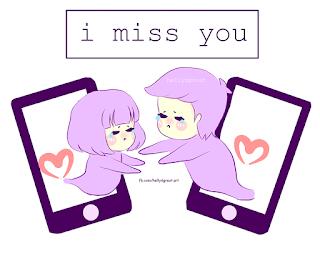 I miss you animation