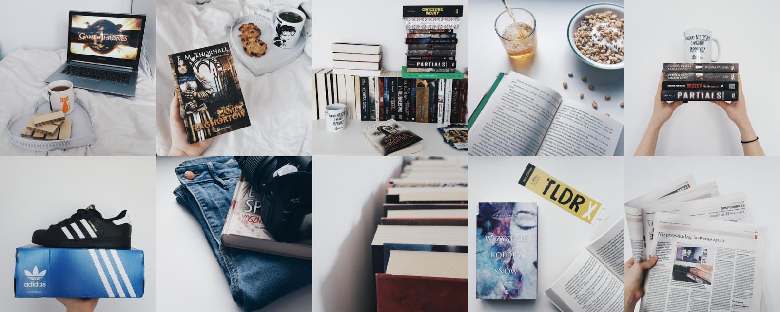 instagram, podsumowanie miesiąca, aparat, książki, buty, superstary, herbata