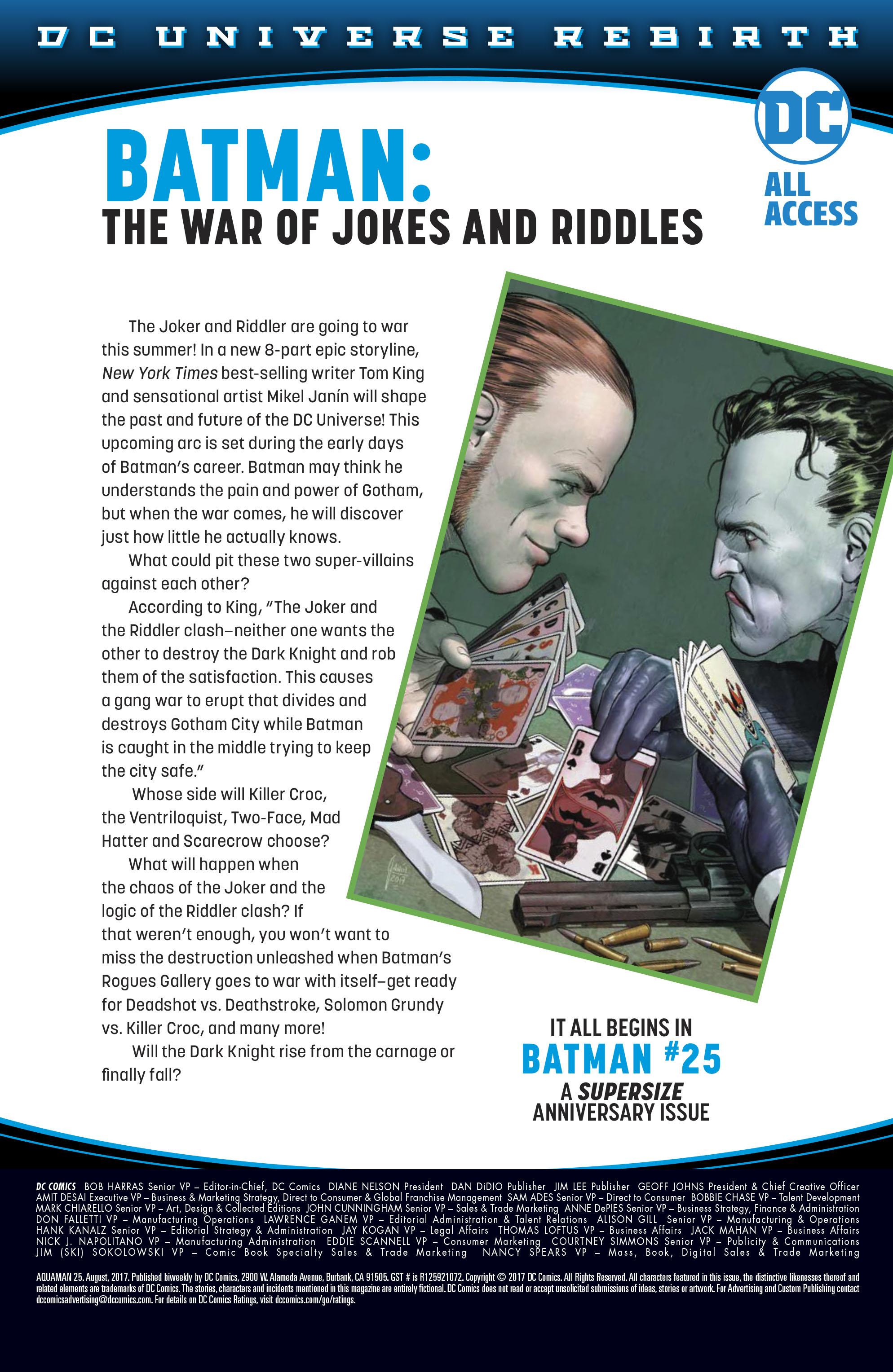Read online Aquaman (2016) comic -  Issue #25 - 33