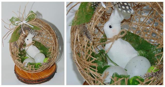Wielkanocne jajo ze sznurka