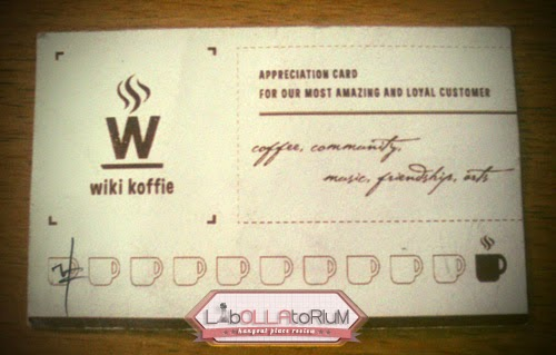 WIKI KOFFIE loyalty membership