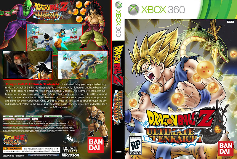Capa Dragon Ball Z Ultimate Tenkaichi Xbox 360