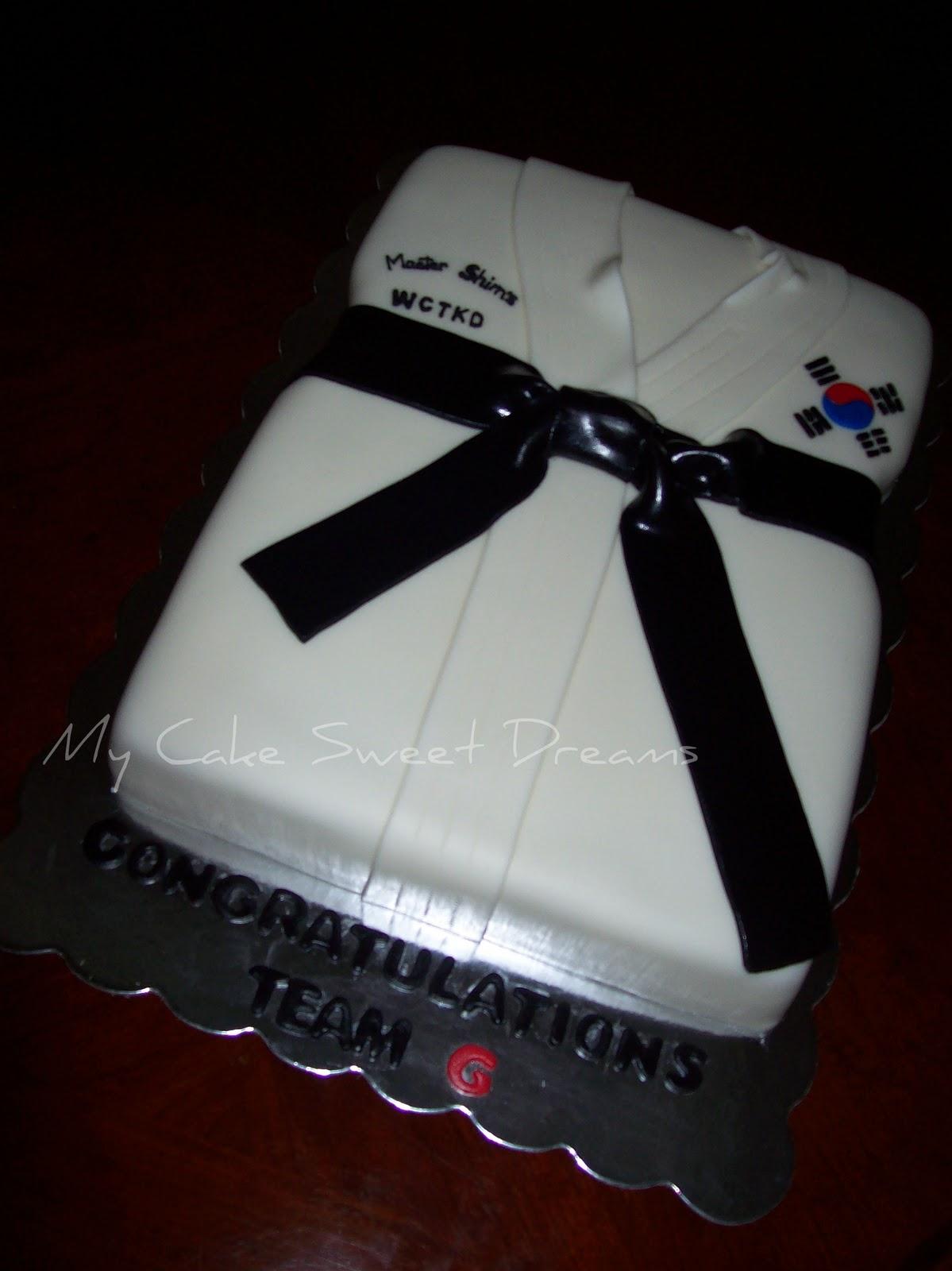My Cake Sweet Dreams Tae Kwon Do Cake