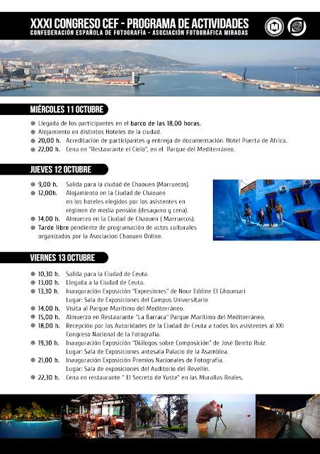 Programa de Actividades para el XXXI Congreso CEF