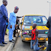 Beautiful! Lagos deputy governor, Femi Hamzat arrests several drivers for 'driving against traffic