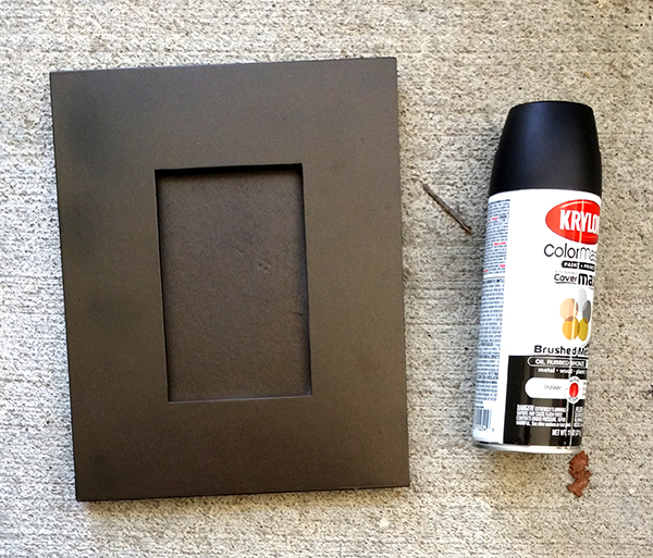 1 can of black krylon paint and 1 black picture frame