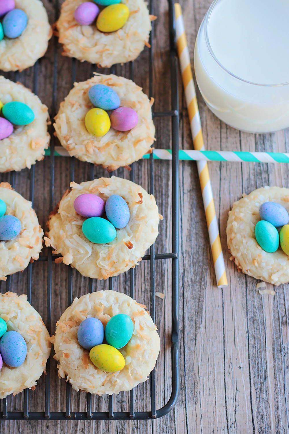 These colorful and delicious bird's nest cookies are perfect for celebrating spring!