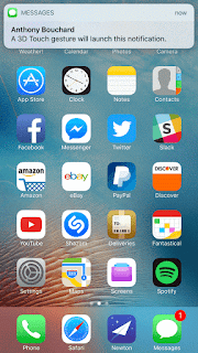 NotificationPop Open notifications by means of a 3D Touch gesture with NotificationPop (jailbreak) Technology