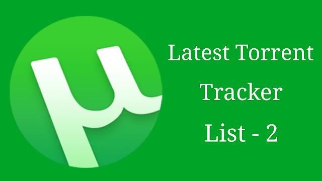 Latest Torrent Tracker List Update - Part 2
